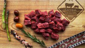 Liellopa gulašs gaļas gabali BIO